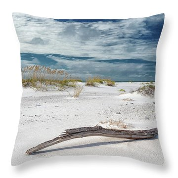 Emerald Coast Beauty Throw Pillow