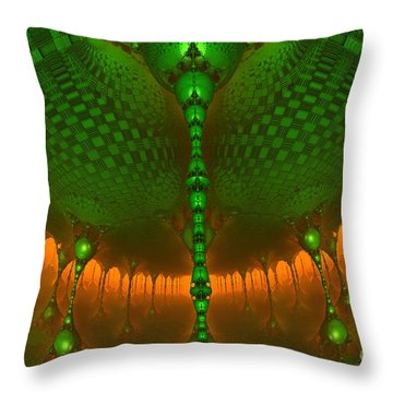 Emerald Dew Throw Pillow by Melissa Messick