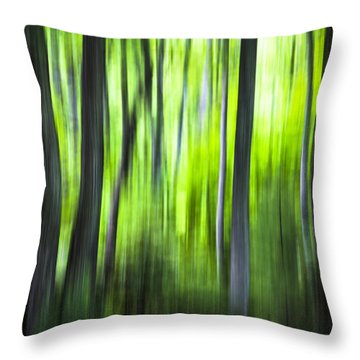 Green Forest - North Carolina Throw Pillow