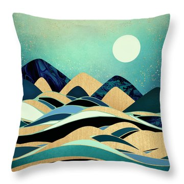 Emerald Evening Throw Pillow