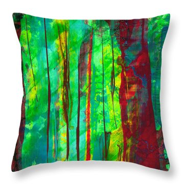 Emerald Forest Throw Pillow