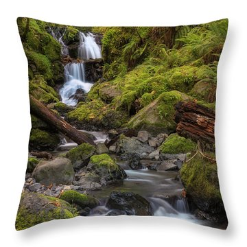 Emerald In Autumn Throw Pillow