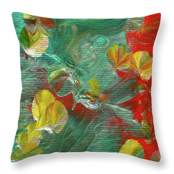 Emerald Island Throw Pillow
