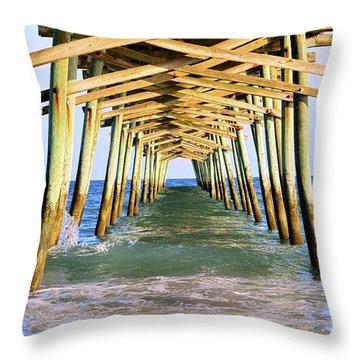 Emerald Isles Pier Throw Pillow