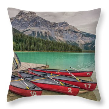 Throw Pillow featuring the photograph Emerald Lake 2009 01 by Jim Dollar