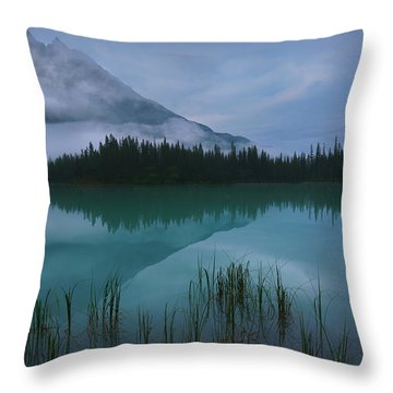 Emerald Lake Before Sunrise Throw Pillow