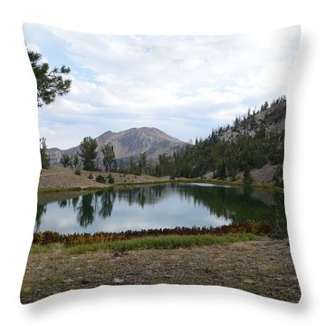Jarbidge Wilderness Emerald Lake Throw Pillow