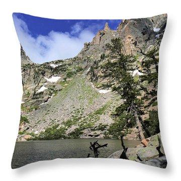 Emerald Lake Throw Pillow by Scott Kingery