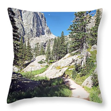 Emerald Lake Trail - Rocky Mountain National Park Throw Pillow