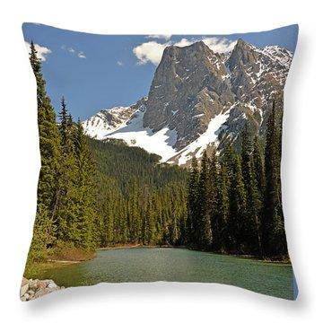 Emerald Lake Vista Throw Pillow