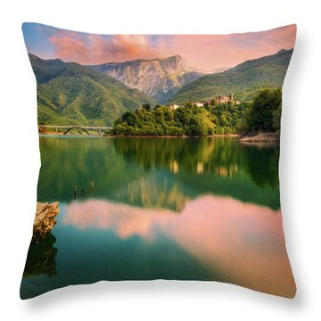 Emerald Mirror Throw Pillow