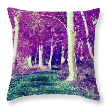 Emerald Path Throw Pillow