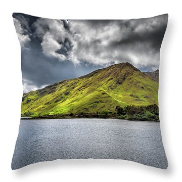 Emerald Peaks Throw Pillow