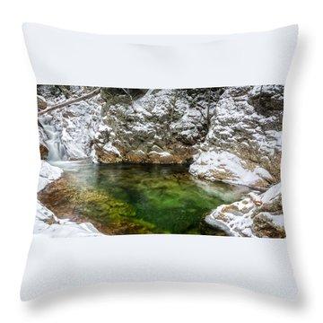 Emerald Pool Ellis River Nh Throw Pillow