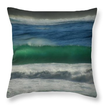 Emerald Sea Throw Pillow by Donna Blackhall