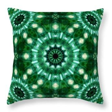 Emerald  Throw Pillow by Thomas  MacPherson Jr