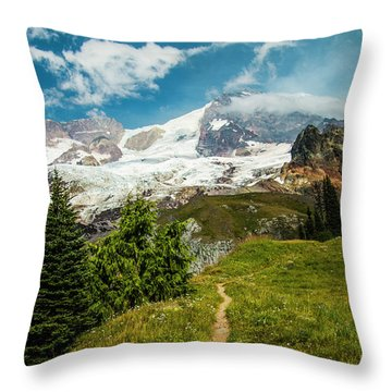 Emerald View Throw Pillow