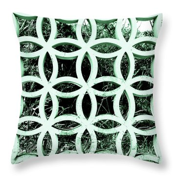 Emerald Window 2 Angeloff J Throw Pillow