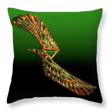 Emerald Wings Throw Pillow