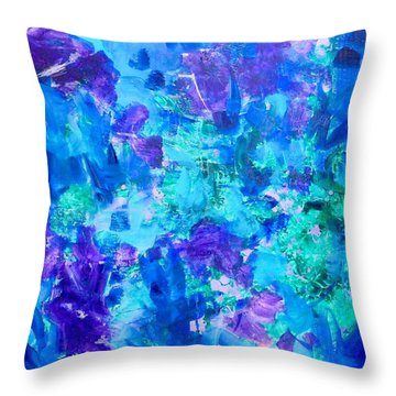 Emergence Throw Pillow by Irene Hurdle