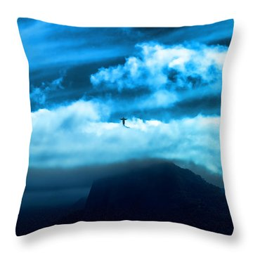 Throw Pillow featuring the photograph Emergence by Kim Wilson