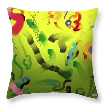 Emergence Throw Pillow by Robert Henne