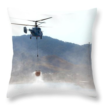 Emergency Helicopter Throw Pillow by Svetlana Sewell