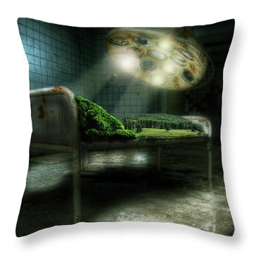 Throw Pillow featuring the digital art Emergency Nature  by Nathan Wright