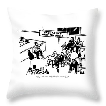 Emergency Waiting Area Throw Pillow