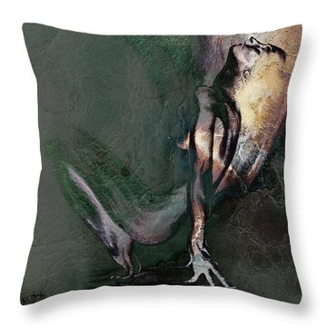 emergent II - textured Throw Pillow
