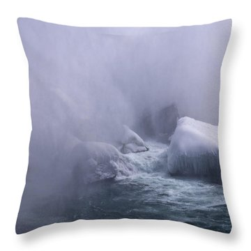 Emerging From The Mist Throw Pillow