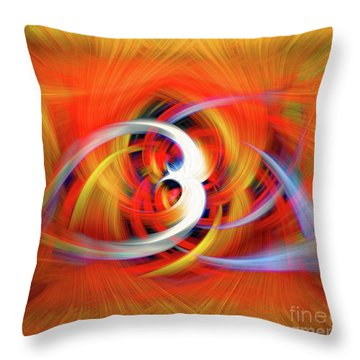Emerging Light From A Colorful Vortex Throw Pillow by Sue Melvin