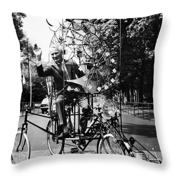 Emett: Lunacycle, 1970 Throw Pillow by Granger