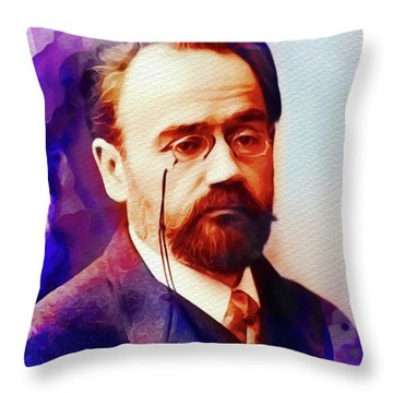 Emile Zola, Literary Legend Throw Pillow