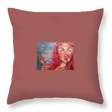 Emily 2 Throw Pillow by Heather Roddy