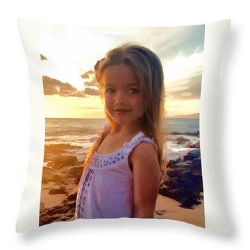 Throw Pillow featuring the painting Emily by Dave Luebbert