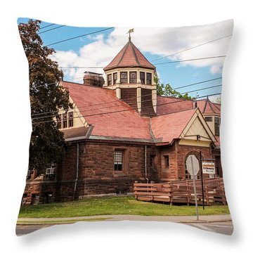 Emily Williston Memorial Library And Museum Throw Pillow
