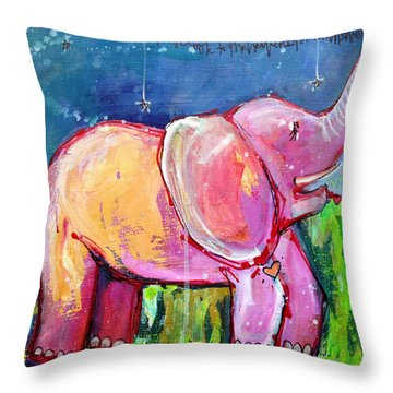 Emily's Elephant 2 Throw Pillow