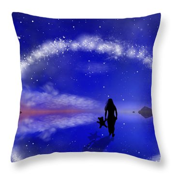 Emily's Journey Part 1 Throw Pillow by Bernd Hau