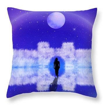 Throw Pillow featuring the digital art Emily's Journey Part II by Bernd Hau
