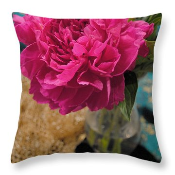 Emily's Peonies  Throw Pillow