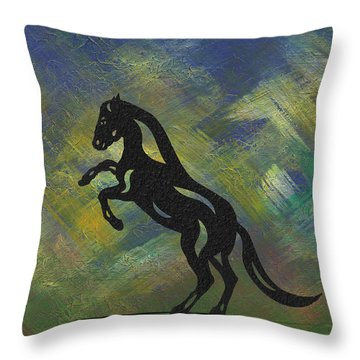 Emma - Abstract Horse Throw Pillow