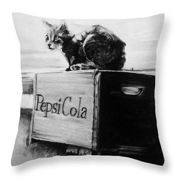 Emma Throw Pillow by Jean Cormier