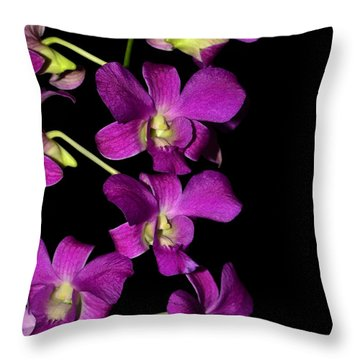 Throw Pillow featuring the photograph Emma Queen Orchid 001 by George Bostian