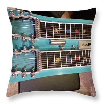 Emmons Lashley Legrande Pedal Steel Guitar Throw Pillow