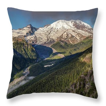 Throw Pillow featuring the photograph Emmons Vista Of Mount Rainier by Pierre Leclerc Photography