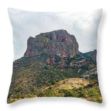 Emory Peak Chisos Mountains Throw Pillow