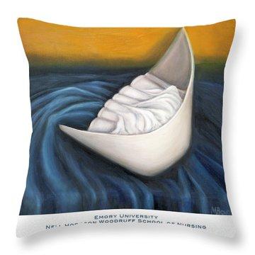Emory University Nell Hodgson Woodruff School Of Nursing Throw Pillow by Marlyn Boyd