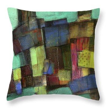 Colorful Throw Pillow by Behzad Sohrabi