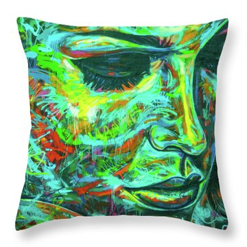 Emotion Green Throw Pillow
